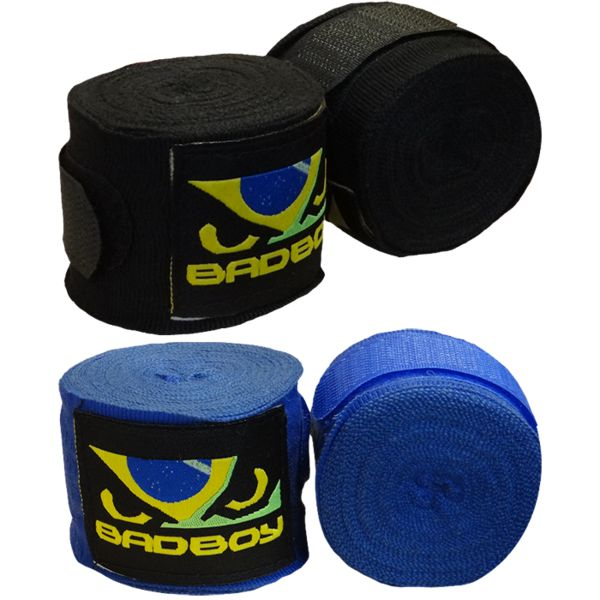 Боксерские бинты Bad Boy Bad BoyБоксерские бинты<br>Боксерские бинты Bad Boy. Классический бинт для защиты суставов рук. Длина 4. 5 метра, ширина 5 см.<br><br>Цвет: Чёрный