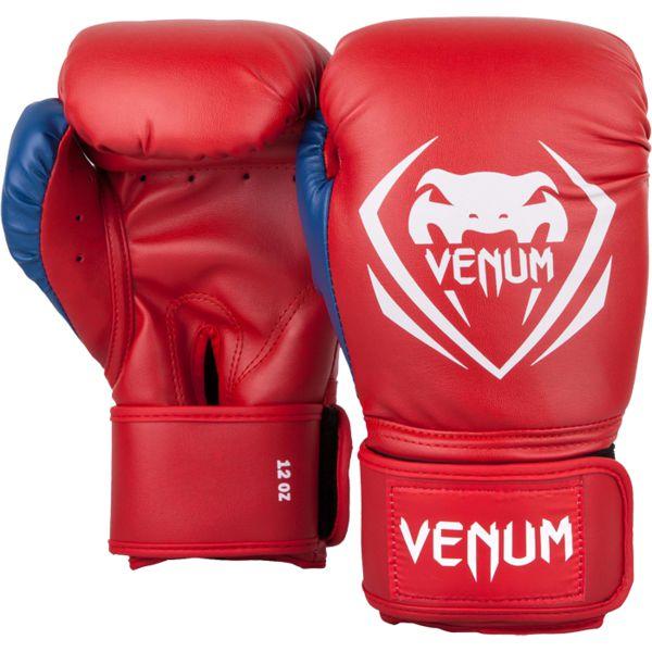 Боксерские перчатки Venum Contender Red/White-Blue, 14 унций Venum фото