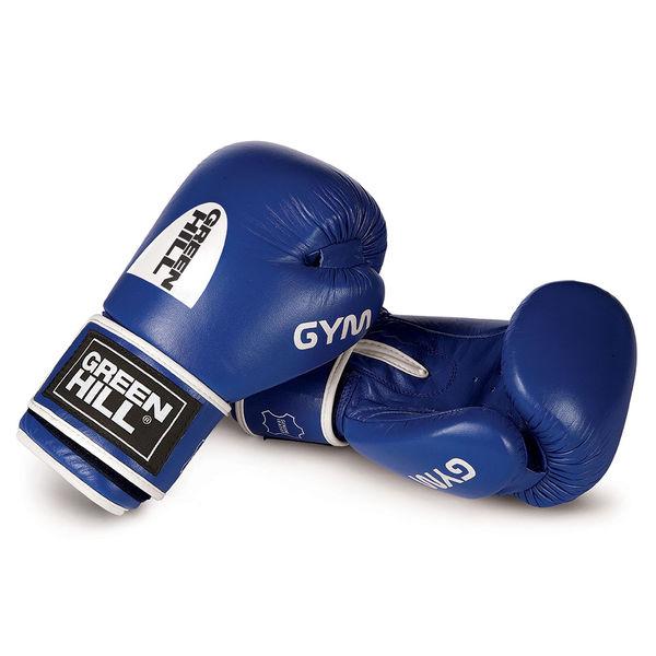 Перчатки боксерские gym, 14 унций Green HillБоксерские перчатки<br>Натуральная кожа<br> Материал  набивки наивысшей плотности<br> Эргономика  перчатки на высоком уровне<br> Удобная  застёжка-липучка<br> Внутренний  слой из искусственной ткани<br><br>Цвет: Синий