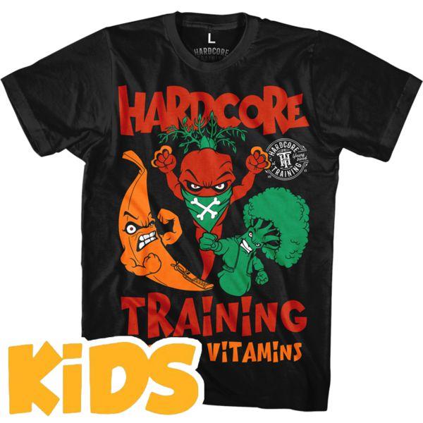 Детская футболка Hardcore Training Angry Vitamins Hardcore TrainingФутболки<br>Детская футболка Hardcore Training Angry Vitamins. Уход: машинная стирка в холодной воде, деликатный отжим, не отбеливать. Состав: 92% хлопок, 8% лайкра. Футболка изготовлена в Европе (EU).<br><br>Размер INT: 6 лет