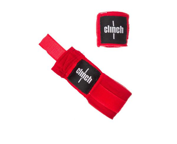 Бинты эластичные Clinch Boxing Crepe Bandage Punch красные Clinch Gear
