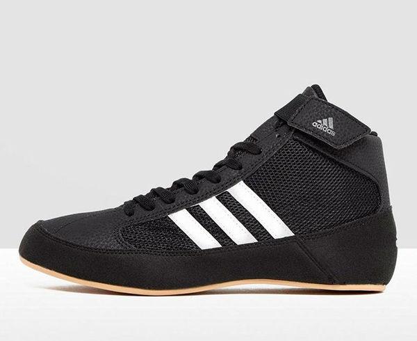 Борцовки HVC 2 Kids черно-белые Adidas фото