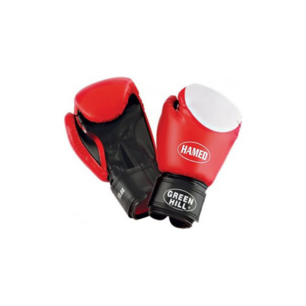 Перчатки боксерские hamed, 6 унций Green Hill
