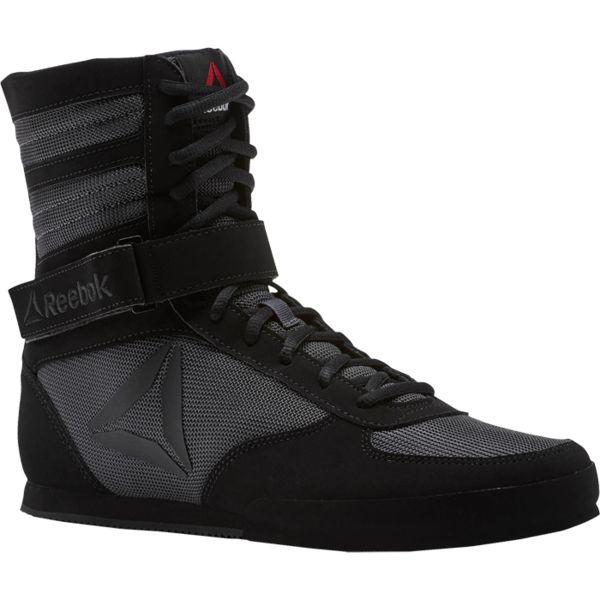 Боксерки Reebok Boxing Boot Black/Black ReebokБоксерки<br>Обувь для бокса Reebok Boxing Boot. Верх из искусственного нубука для комфорта. Ремешки для идеальной посадки и надежной поддержки. Промежуточная подошва из ЭВА для амортизации. Средняя высота для поддержки щиколотки и большей устойчивости. Резиновая подошва для прочности и надежного сцепления.<br><br>Размер INT: 44_5