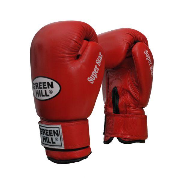 Перчатки боксерские super star, 14 унций Green HillБоксерские перчатки<br>Натуральная кожа<br> Ладонь из замши<br> Манжет на липучке<br> Отлично годятся для соревнований<br><br>Цвет: Синий