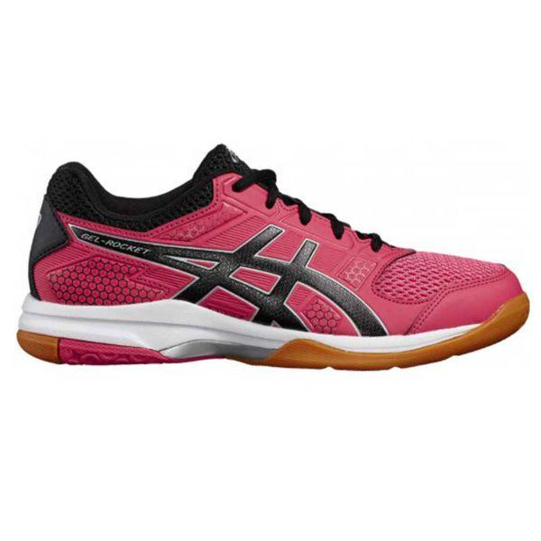 Кроссовки волейбольные женские ASICS B756Y 1990 GEL-ROCKET 8 AsicsКроссовки<br>ASICS GEL-ROCKET 8 - продолжение самой популярной линейки для зальных видов спорта, высокотехнологичные удобные кроссовки средней ценовой категории для игры в волейбол. Данная модель с улучшенным сцеплением с поверхностью создана специально для спортсменок, которые совершают большое количество быстрых боковых движений. В конструкции верха минимизировано наличие швов и накладок. Воздухопроницаемый сетчатый верх модели, укрепленный синтетическими накладками, обеспечивает ощущение комфорта, идеальную посадку и поддержку. Благодаря гелевым вставкам в передней части кроссовки смягчают ударную нагрузку во время приземления и дают боковую устойчивость. Кроссовки имеют защиту от скручивания стопы и хорошую устойчивость. Подошва с некрупным рифлением имеет отличное сцепление с поверхностью. Вес женской версии данной модели составляет 274 грамма. Технологии, использованные в модели ASICS GEL-ROCKET 8:•Forefoot GEL Cushioning System. Специальный вид силикона в носке поглощает удар, снижает нагрузку на пятку, колени и позвоночник спортсмена. •Trusstic System. Литой элемент, расположенный под центральной частью подошвы. Обеспечивает стабильность, лёгкость, предотвращает скручивание стопы. •Gill Mesh. Уникальная сетка, поглощая воздух, направляет его внутрь обуви для вентиляции и охлаждения. •NS Rubber. Специальная резина в интенсивно задействованных областях подошвы особенно хорошо себя показывает в зальных видах спорта и обеспечивает увеличенное сцепление. •EVA. Мягкая эргономичная стелька, которая добавляет ощущение комфорта.<br><br>Размер USA: 7