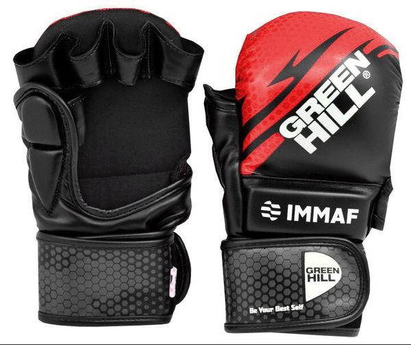 Перчатки MMA Green Hill  IMMAF черно-красные Green Hill
