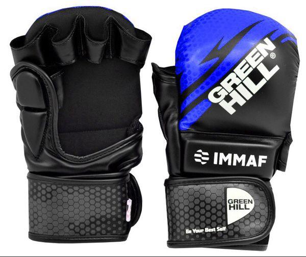 Перчатки MMA Green Hill  IMMAF черно-синие Green Hill