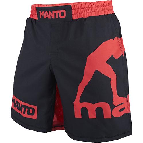 Шорты Manto Logo MantoШорты для тайского бокса/кикбоксинга<br>Шорты Manto Logo. Данные шорты отлично подойдут для работы в партере и в стойке, для занятий мма, грепплингом, тайским боксом, кроссфитом и работой с железом. Великолепный вариант для проф. боёв и тренировок. Материал скользящий, не сковывает движений бойцу. Так же свобода движений обеспечивается за счёт эластичной вставки в промежности. Удерживаются шорты с помощью липучек на фронтальной части мма шорт, а так же благодаря шнурку и резинке, спрятанным во внутренней части пояса. Состав: полиэстер и эластан. Уход: машинная стирка в холодной воде, не отбеливать.<br><br>Размер INT: L