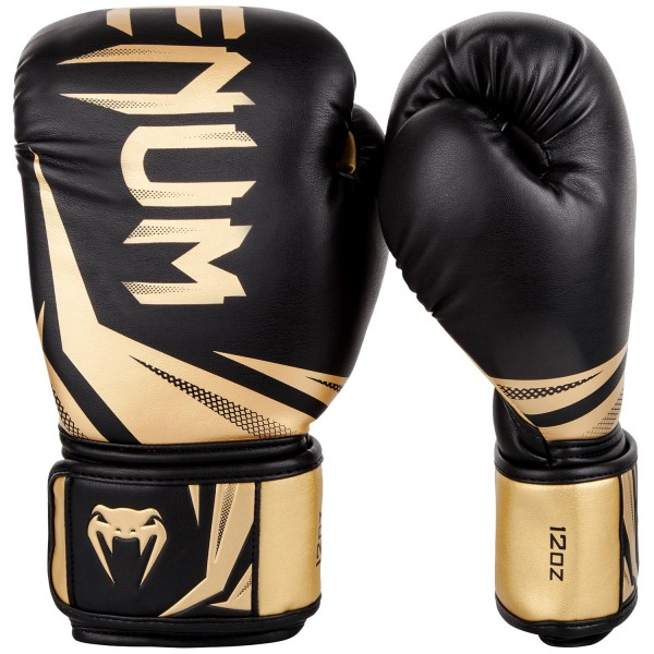 Перчатки боксерские Venum Challenger 3.0 Black/Gold, 14 oz Venum