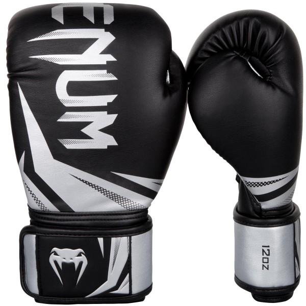 Перчатки боксерские Venum Challenger 3.0 Black/Silver, 16 oz Venum