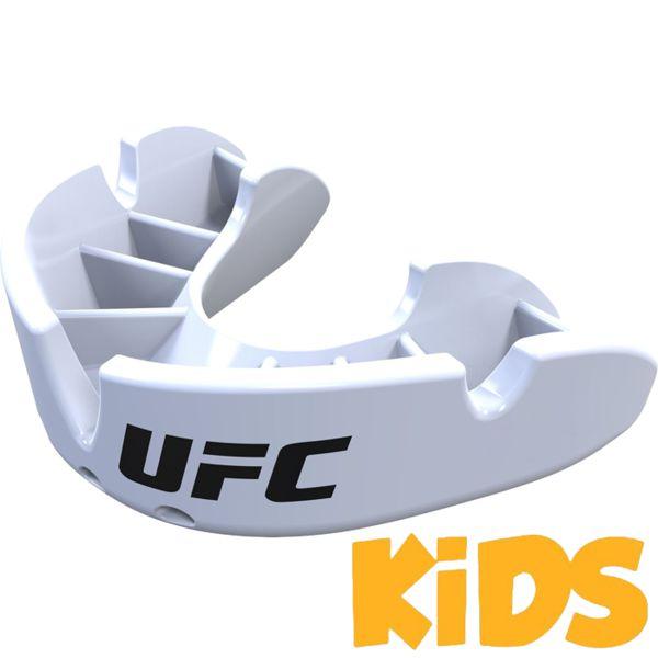 Детская боксерская капа Opro Bronze Level UFC White Opro