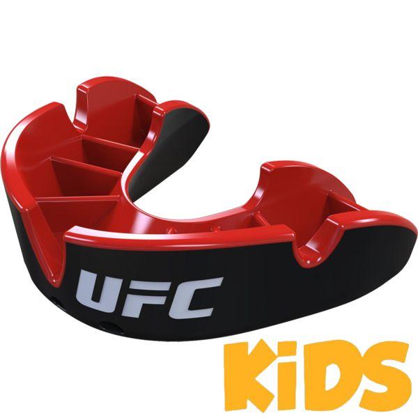 Детская боксерская капа Opro Silver Level UFC Black/Red Opro