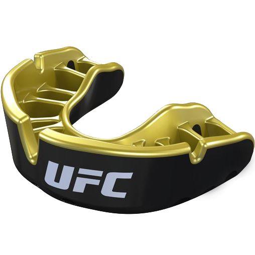 Боксерская капа Opro Gold Level UFC Black Metal/Gold Opro