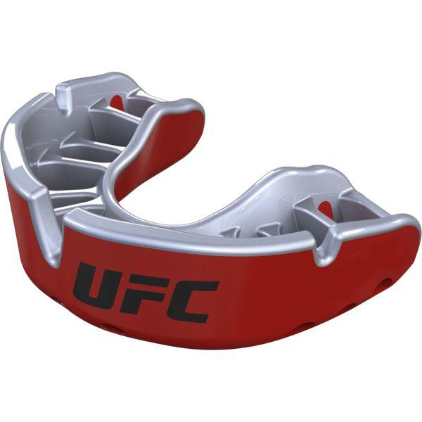 Боксерская капа Opro Gold Level UFC Red Metal/Silver Opro