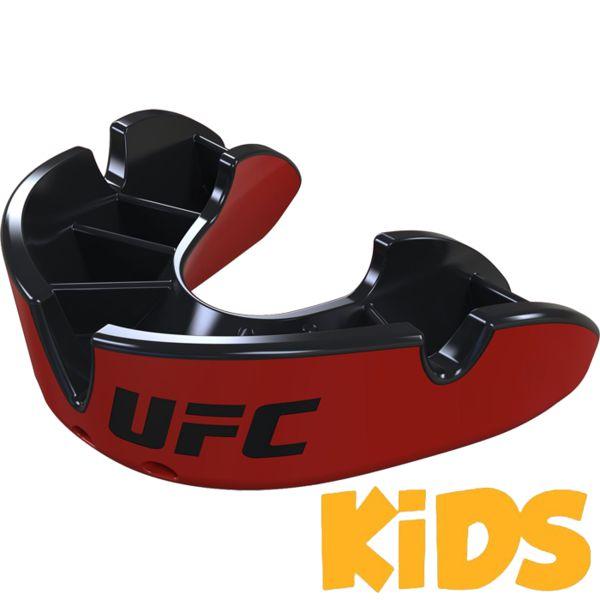 Детская боксерская капа Opro Silver Level UFC Red/Black Opro