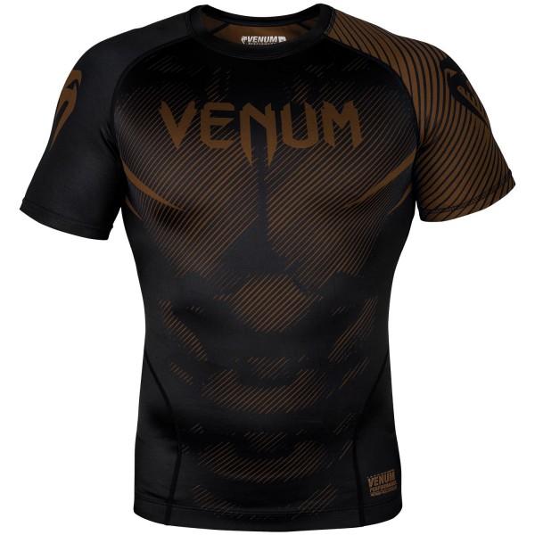 Рашгард Venum NoGi 2.0 Black/Brown S/S  Venum