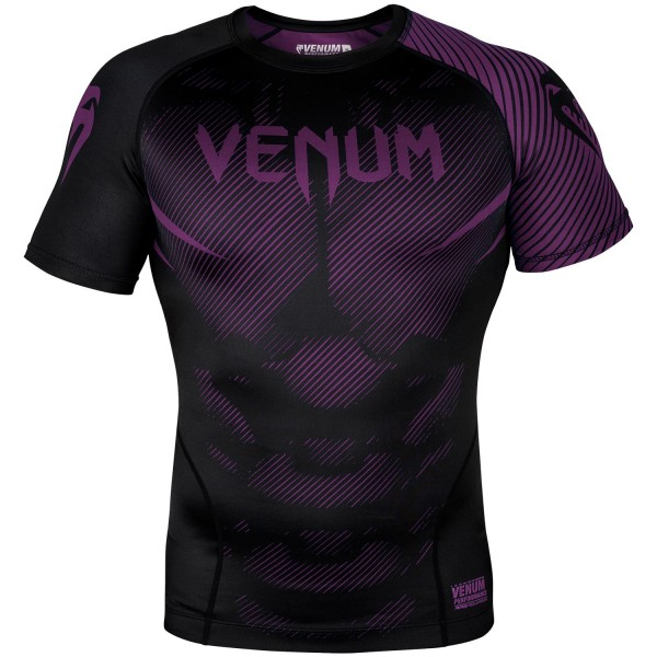 Рашгард Venum NoGi 2.0 Black/Purple S/S Venum фото