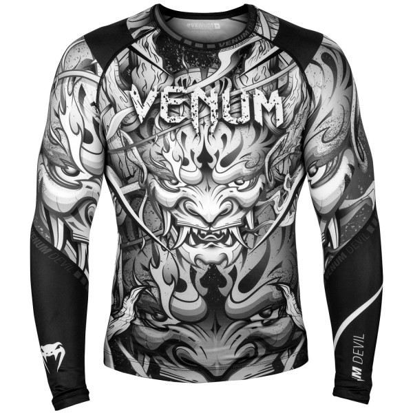 Рашгард Venum Devil - White/Black L/S Venum фото