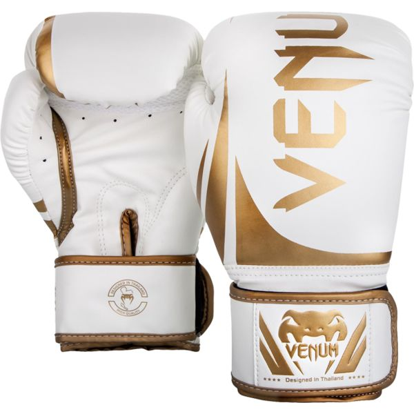 Боксерские перчатки Venum Challenger 2.0 White/Gold, 14 oz Venum
