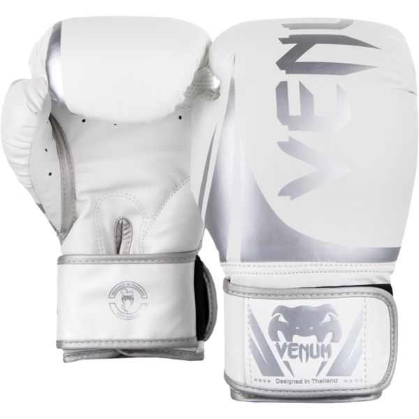Боксерские перчатки Venum Challenger 2.0 White/Silver, 12 oz Venum