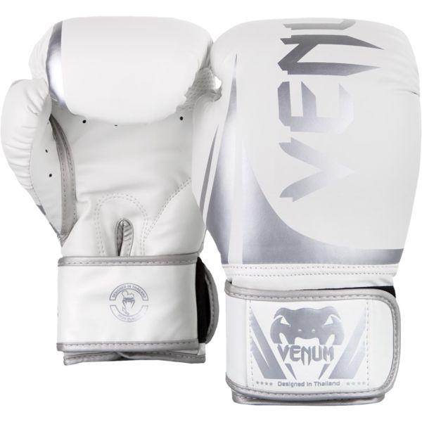 Боксерские перчатки Venum Challenger 2.0 White/Silver, 16 oz Venum