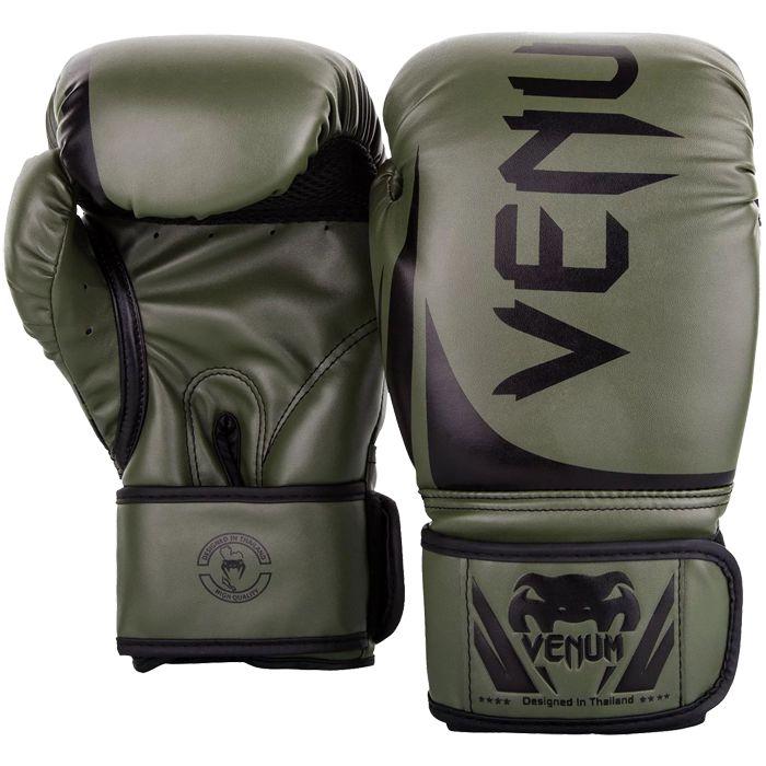 Боксерские перчатки Venum Challenger 2.0 Khaki/Black, 10 oz Venum