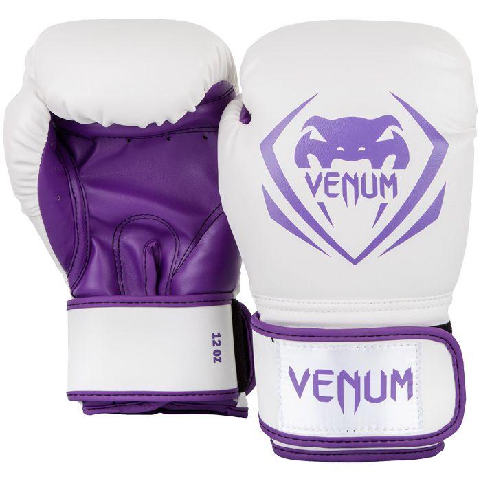 Боксерские перчатки Venum Contender White/Purple, 8 oz Venum