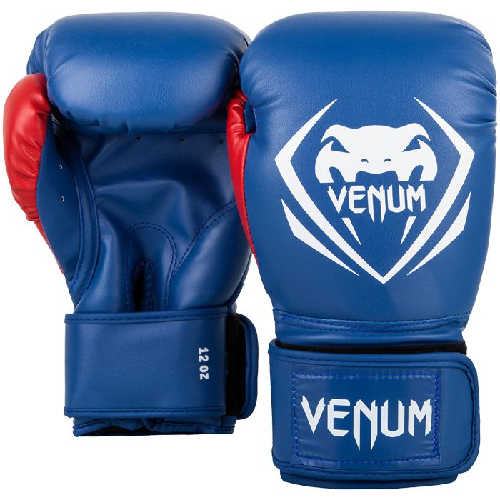Боксерские перчатки Venum Contender Blue/White-Red, 10 oz Venum