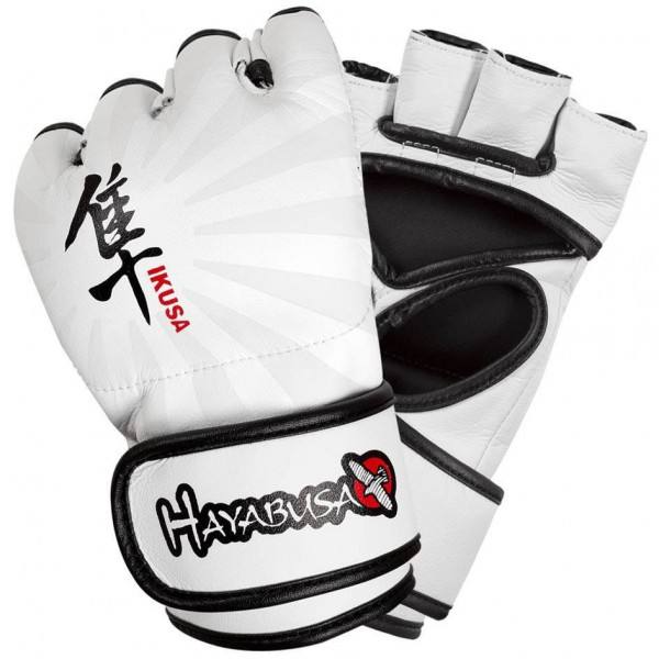 Перчатки ММА Hayabusa Ikusa 4oz MMA Gloves - White HayabusaПерчатки MMA<br>Благодаря запатентованной технологии застежки Dual-X и Y-Volar дизайна, эти перчатки предлагают непревзойденную производительность, комфорт и превосходную поддержку запястья. Y-Volar конструкция обеспечивает надежную фиксацию для повышения стабильности и отзывчивости. Запатентованная технология двойной застежки обеспечивает максимальную поддержку запястья для оптимальной ударной мощи. Искуственная кожа и эксклюзивная внутренняя подкладка для идеальной посадки и ощущений. Цвет - белый<br><br>Размер: XL