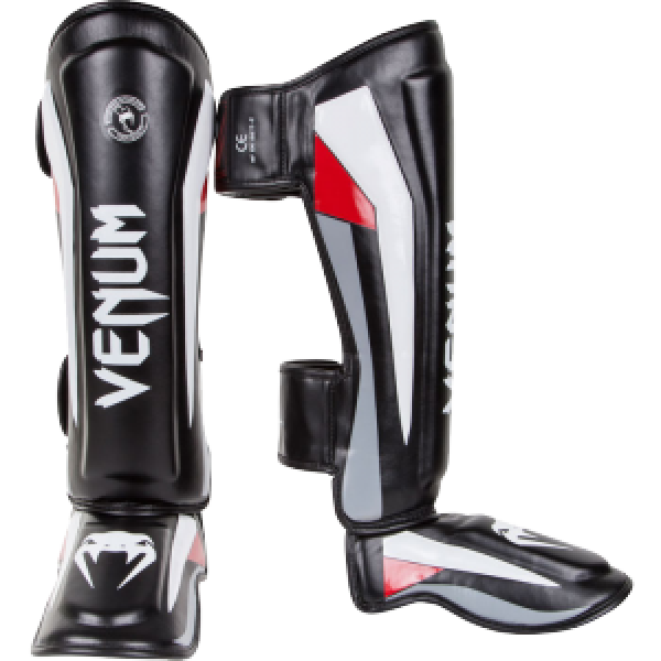 Щитки Venum Elite Standup Shinguards - Black/Red/Grey