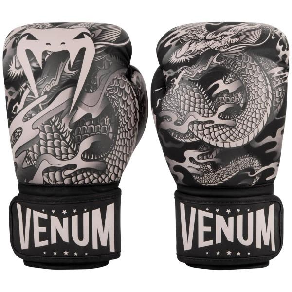 Перчатки боксерские Venum Dragons Flight Black/Sand, 14 oz Venum