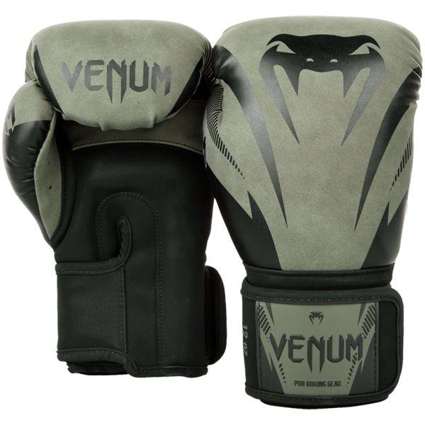 Боксерские перчатки Venum Impact Dark Khaki/Black, 14 oz Venum