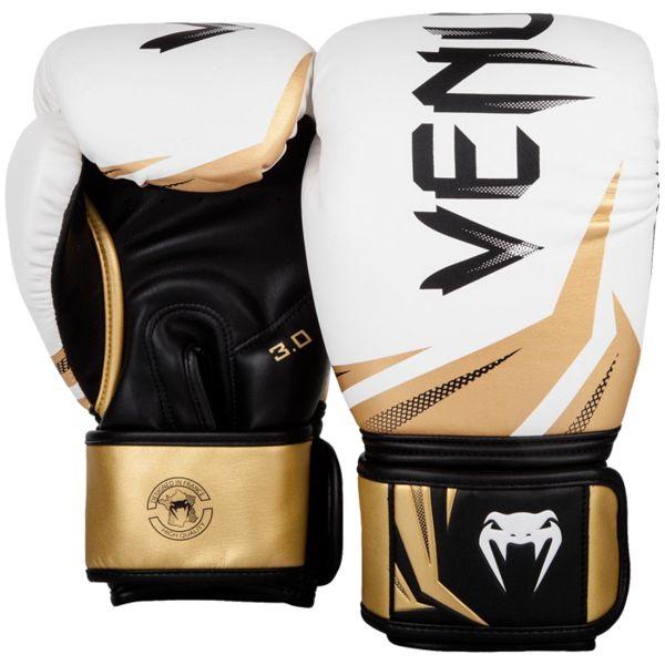Перчатки Venum Challenger 3.0 White/Black-Gold, 12 oz Venum