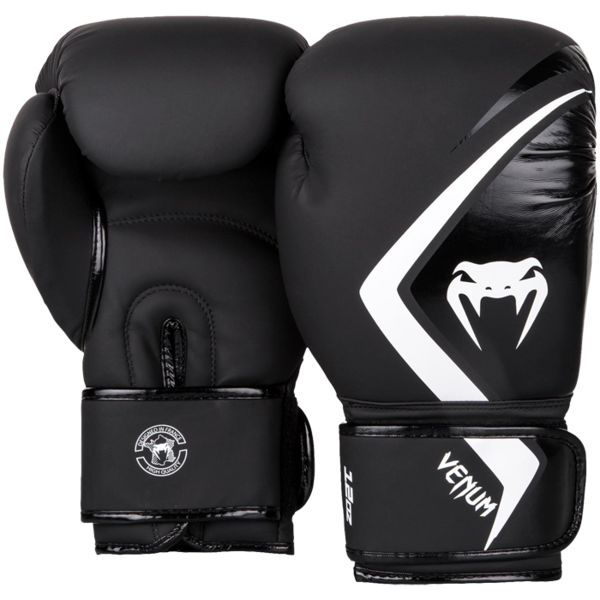 Перчатки Venum Contender 2.0 Black/Grey-White, 8 oz Venum