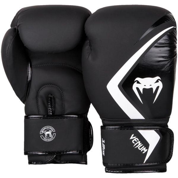 Перчатки Venum Contender 2.0 Black/Grey-White, 10 oz Venum