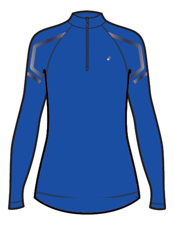 Рубашка беговая женская Asics 2012a234 402 icon ls 1/2 zip top Asics