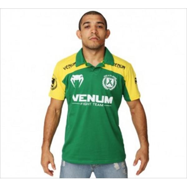 Поло Venum Jose Aldo Junior Signature Polo - Brazil Edition VenumРубашки поло<br>Отличное поло от знаменитого производителя VenumСостав:100% хлопок<br><br>Размер INT: XL