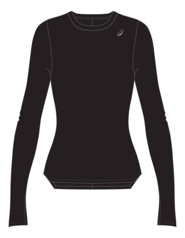 Рубашка беговая женская Asics 2012a031 001 silver ls top Asics