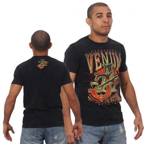Футболка Venum Jose Aldo Vitoria T-shirt - Black/Orange  VenumФутболки<br>ФуболкаVENUM это новое поколение футболок от Venum. Прекрасное качество. Посвящена чемпиону UFC В легком весе Жозе АльдоТехнические характеристики:- 100% высококачественный хлопок- Высокое качество шелкографии- Спортивная подгонка- Сделано в Бразилии.<br><br>Размер INT: XL