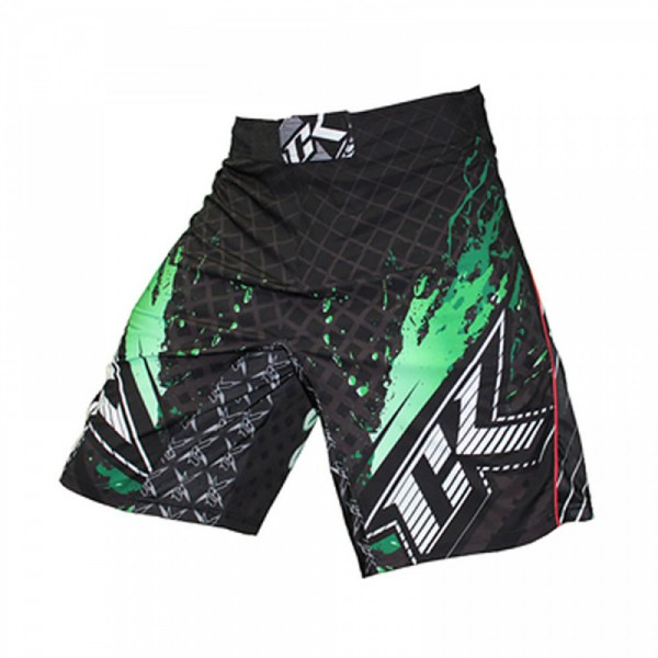 Шорты ММА Contract Killer Stained S2 Shorts - Black/Green Contract Killer