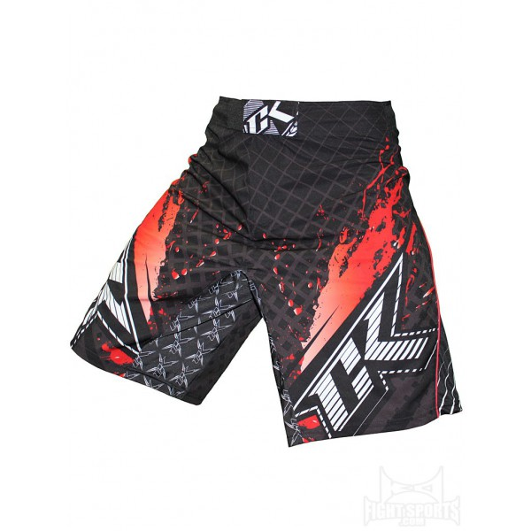 Шорты ММА Contract Killer Stained S2 Shorts - Black/Red Contract Killer