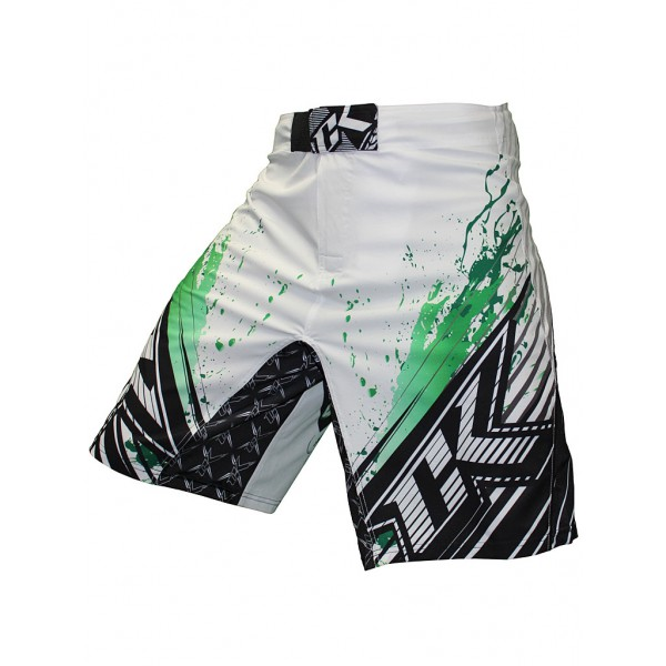 Шорты ММА Contract Killer Stained S2 Shorts - White/Green Contract Killer