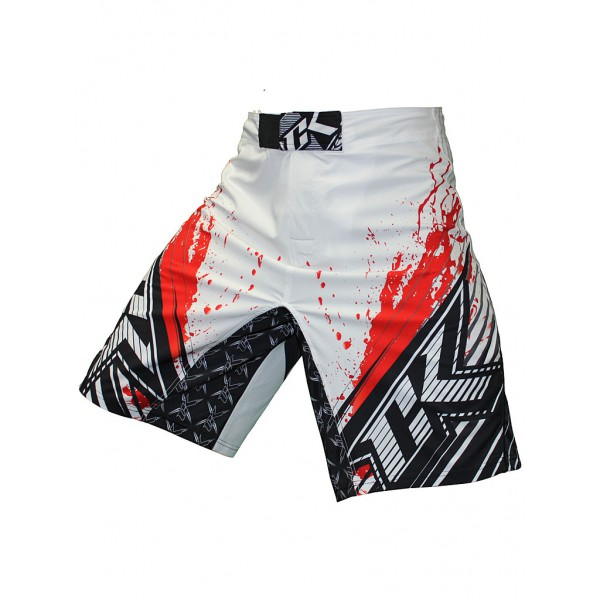 Шорты ММА Contract Killer Stained S2 Shorts - White/Red Contract Killer