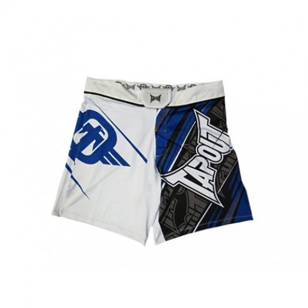 Шорты ММА TapouT 4 Way Stretch Performance Fight Shorts White Tapout