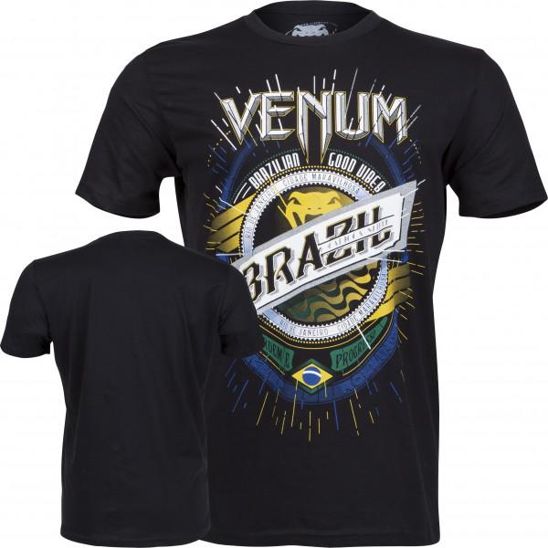 Футболка Venum Keep Rolling T-shirt - Black  VenumФутболки<br>Бразилия - особенная страна: ее удивительные пейзажи, богатая культура, хорошие люди и удивительные бойцы. Эта футболка - дань благодарности Бразилии, земли истоков и источника вдохновения компании Venum. Прямой рейс в Рио! Берите билет быстрее, одевайте эту футболку и вперед!Характеристики:100% хлопок высокого качестватрафаретная печать высокого качестваочень комфортная<br><br>Размер INT: L