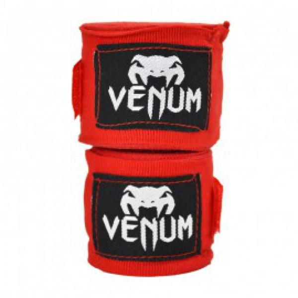 Бинты боксерские Venum Kontact Boxing Handwraps 2,5 m - Red VenumБоксерские бинты<br>Для профессиональной подготовки и большей выносливости - это обязательная защита для ваших рук. - 100% хлопок- Размер: 2,5 мЦвет: красный<br>