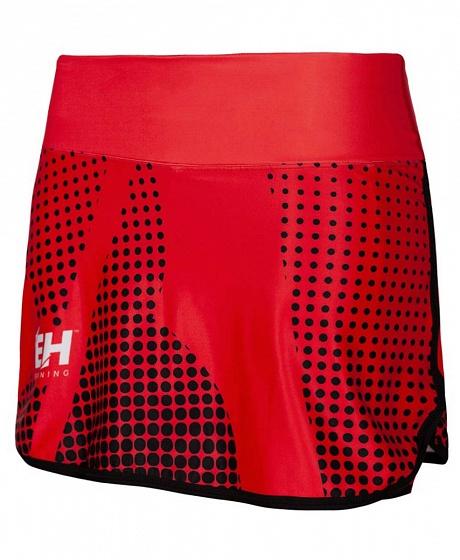 Юбка-шорты для бега halftone red, женская Extreme Hobby