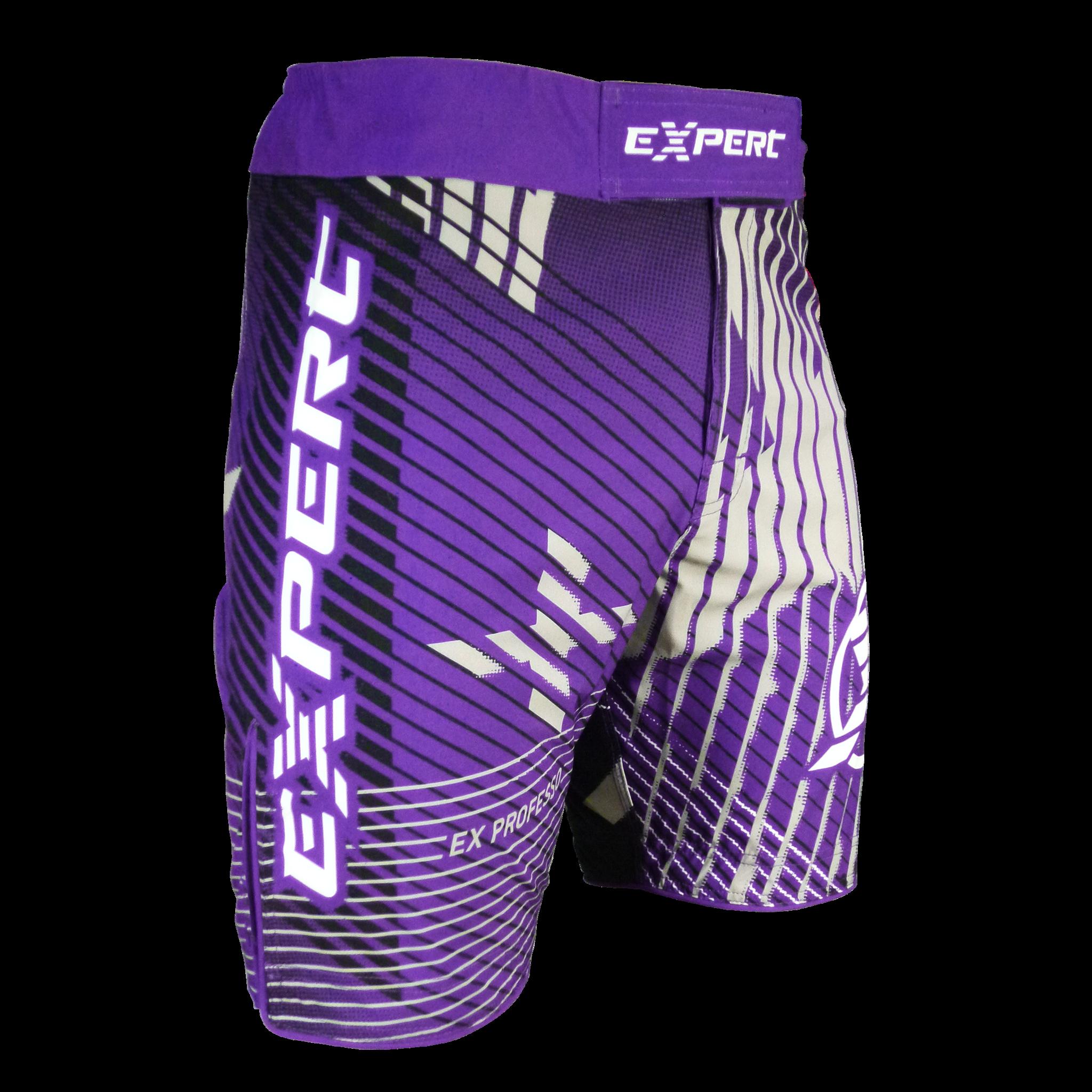 Шорты ММА Fight Expert Cross Фиолетовый/Серый Flamma