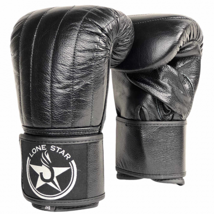 Снарядные перчатки на липучке Lone Star Leather Black Leaders